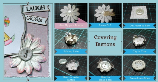 Vintage Baby - covering button
